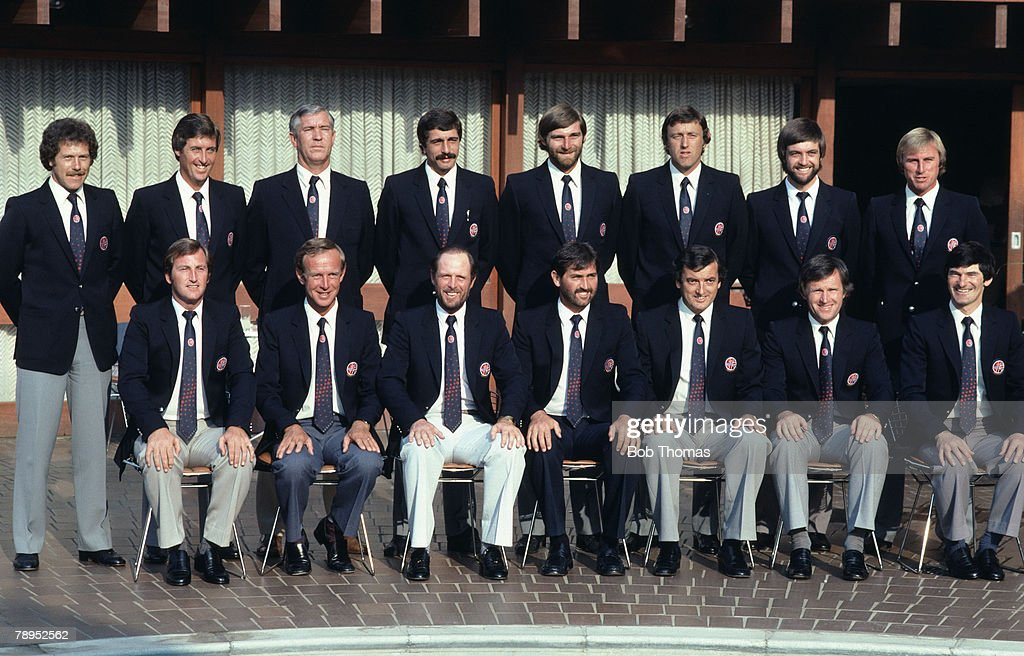 Sport. Cricket. Johannesburg, South Africa. August 1982. International match. South Africa v SAB England XI. England Team group, Back Row; L-R, Wayne Larkins, Bob Woolmer, Liason officer name not known, Les Taylor, Chris Old, Mike Hendrik, Peter Willey, J : News Photo