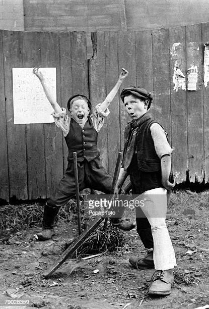 Sport Cricket London England Circa 1910 Young street boys play cricket on a patch of waste ground