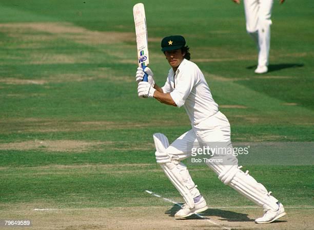 Sport, Cricket, Lord's, pic: August 1987, MCC Bi-Centennial Match, Imran Khan, Pakistan, Imran Khan played in 88 Test matches for Pakistan between...