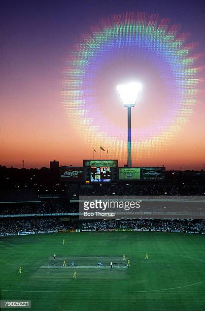 Sport Cricket OneDay International Melbourne 4th February 1988 Australia beat England by 22 runs The match comes to its climax under the floodlights...