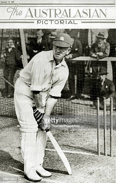 12th December 1936, The front cover of The Australasian Pictorial featuring the England batsman Maurice Leyland, one of Yorkshire's great batsmen...