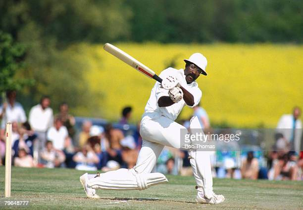 18th May 1980, Northamptonshire v West Indies at Milton Keynes, Clive Lloyd, batting for the West Indies