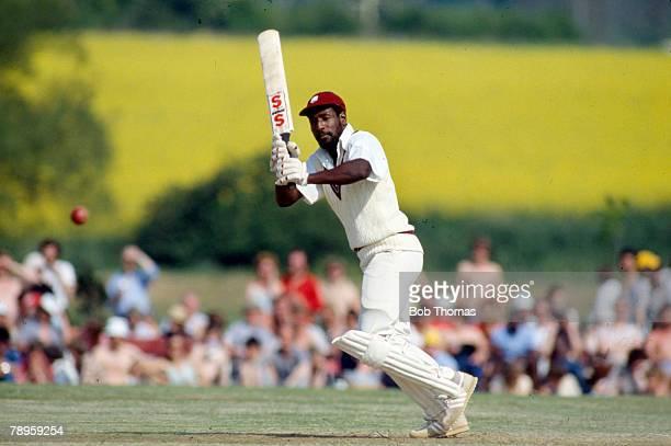 18th May 1980, Tour Match at Bletchley, Northamptonshire v West Indies, Viv Richards, West Indies master batsman, Viv Richards played in 121 Test...