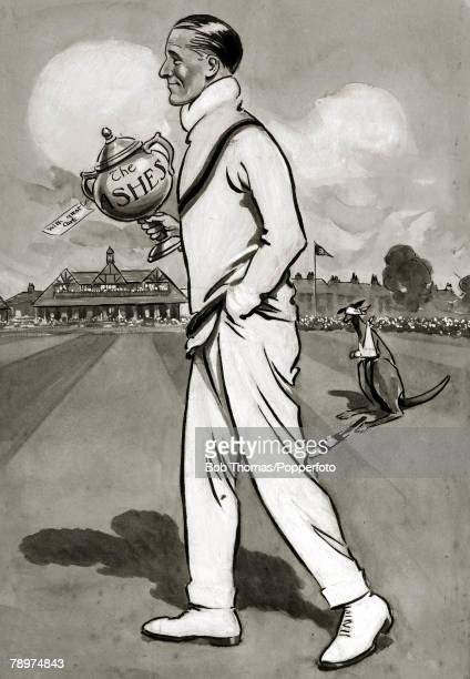 19201921 This illustration shows England captain John Douglas with the Ashes pot John Douglas captained England in the 19201921 Test series in...