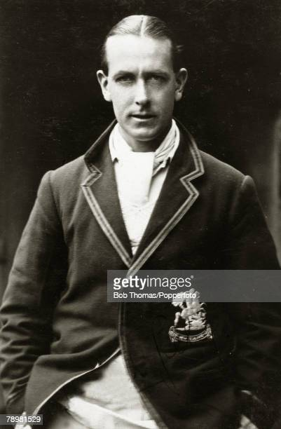Harold Gillingham, Sussex, pictured wearing his M,C,C, touring blazer for the 1929-1930 tour of New Zealand and Australia, He is the brother Arthur...