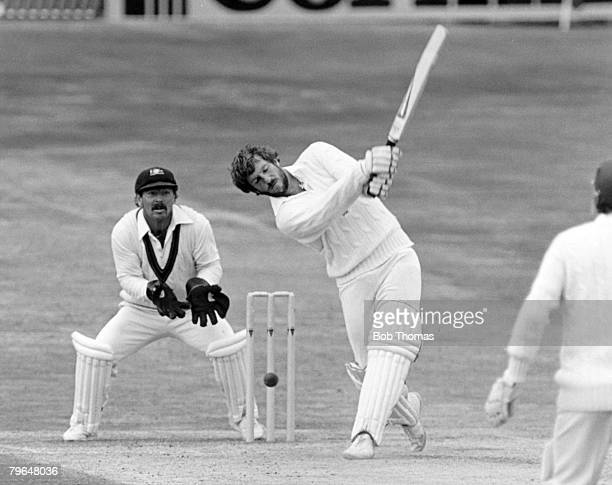 1981 3rd Test Match at Headingley England beat Australia by 18 runs England's Ian Botham during his innings of 149 not out hits a ball to the...