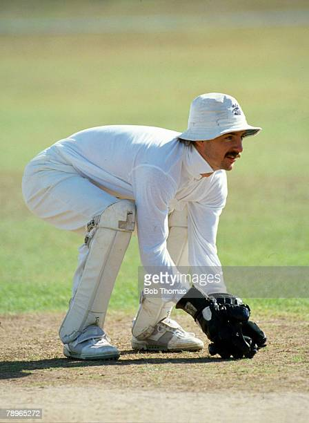 1st Test in Kingston, Jamaica, England beat West Indies by 9 wickets, Jack Russell, England wicket keeper, Jack Russell, who played county cricket...