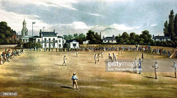 19th Century This illustration shows Surrey Cricket Ground at Kennington Oval