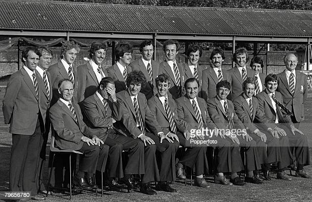 24th October 1978 The England cricket team and officials pictured at Lord's prior to leaving for their tour of Australai England Back row lr Roger...