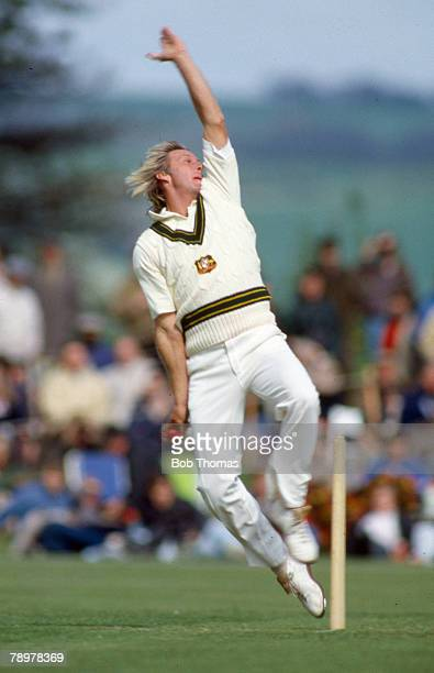5th May 1985 Arundel Duchess of Norfolks XI v Australia Jeff Thomson Australia one of the greatest fast bowlers who played in 51 Test matches for...