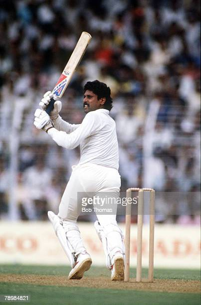 5th November 1987 Cricket World Cup in Bombay SemiFinal England beat India by 35 runs Kapil Dev India Kapil Dev was the first genuine pace bowler...