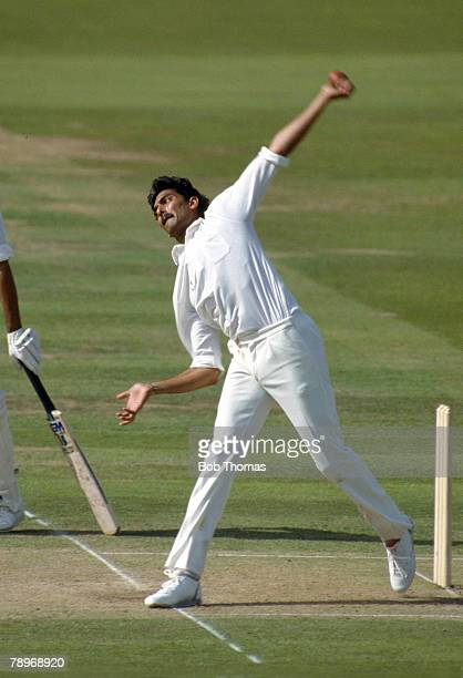 August 1987 MCC BiCentenary Match at Lord's MCC v Rest of the World XI Ravi Shastri India slow left arm bowler and middle order batsman who played in...