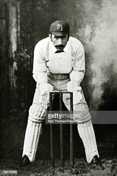 circa 1885 Richard Pilling often referred to as The Prince of wicketkeepers who played for Lancashire 18771889 and for England in 8 matches 18811888