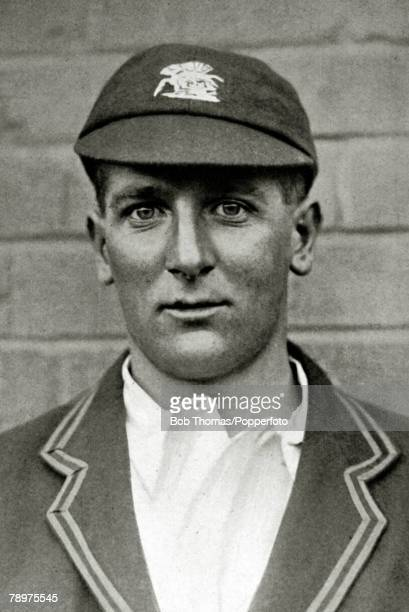 Circa 1929, Harold Larwood, Nottinghamshire and England fast bowler, He played for Nottinghamshire 1924-1938 and for England in 21 matches 1926-1933,...