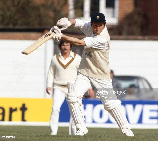Circa 1980, Alan Jones, Glamorgan left handed batsman