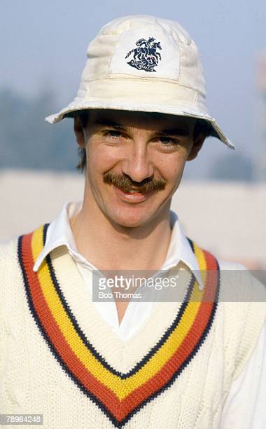 Circa 1987, Jack Russell, England wicketkeeper, Jack Russell, who played county cricket for Gloucestershire, played in 54 Test matches for England...