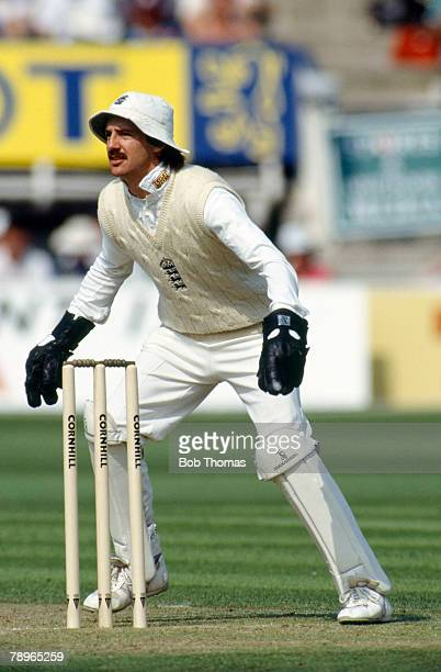Circa 1990, Jack Russell, England wicket keeper, Jack Russell, who played county cricket for Gloucestershire, played in 54 Test matches for England...