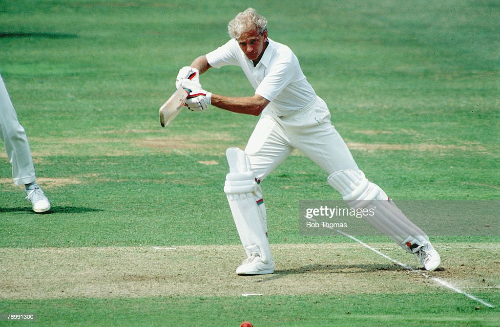 Sport. Cricket. pic: July 1990. England batsman David Gower plays a forcing shot. : News Photo