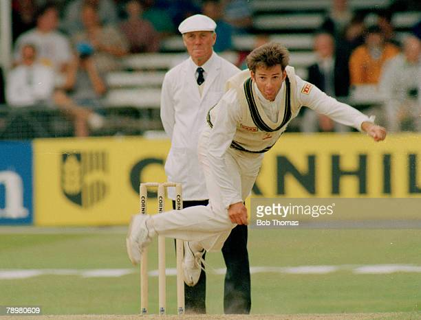 July 1993 3rd Cornhill Test Match at Trent Bridge England drew with Australia Mark Waugh Australia who played in 128 Test matches for Australia...