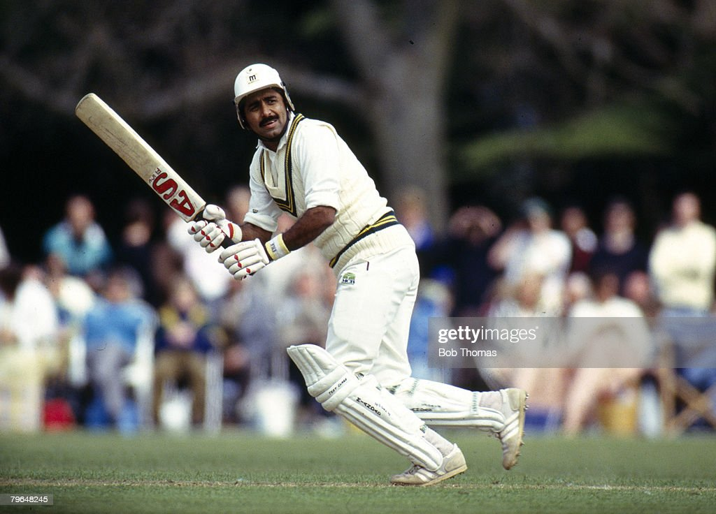 BT Sport, Cricket, pic: May 1992, Lavinia Duchess of Norfolk's XI V Pakistan at Arundel, Javed Miandad, the Pakistan batsman, one of their greatest players, played in 124 Test matches for Pakistan between 1976-1993 : News Photo