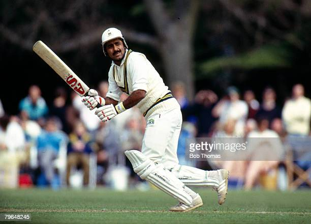 May 1992 Lavinia Duchess of Norfolk's XI V Pakistan at Arundel Javed Miandad the Pakistan batsman one of their greatest players played in 124 Test...