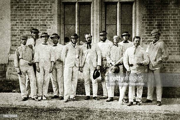 May 2224th 1862 Twenty two of Rossall School v The All England XI Rossall School is near Fleetwood in Lancashire England won by 8 wicketsThe All...