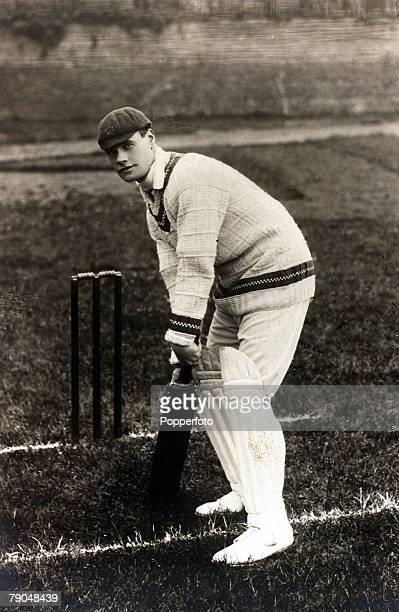 Sport Cricket Postcard Circa 1903 Gilbert Jessop Gloucestershire and England