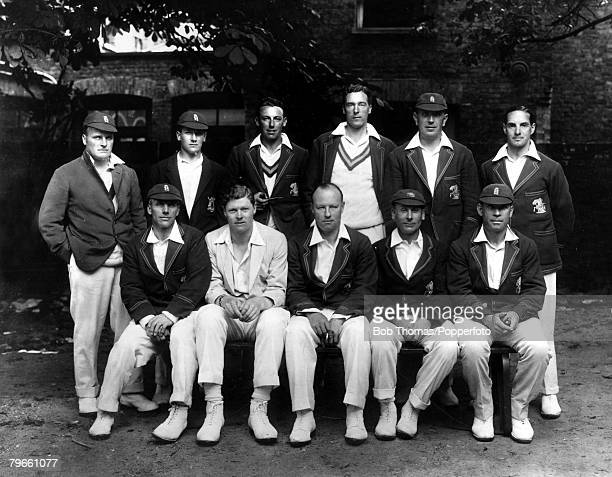 Sport, Cricket, Second Test Match, Lord's, Middlesex, June 1926, England v Australia, Match drawn, The England team, Back row, L-R: Kilner, Larwood,...