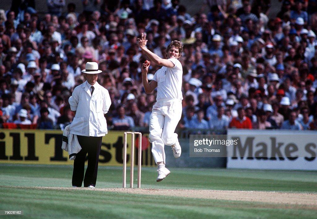Sport. Cricket. The Ashes. August 1981. Australia's Terry Alderman. : News Photo