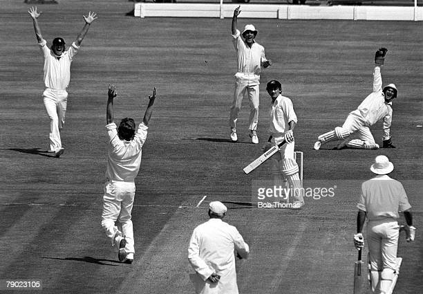 Sport Cricket The Ashes Old Trafford Manchester 7th July 1977 Second Test Match England beat Australia by 9 wickets Australian opening batsman Ian...