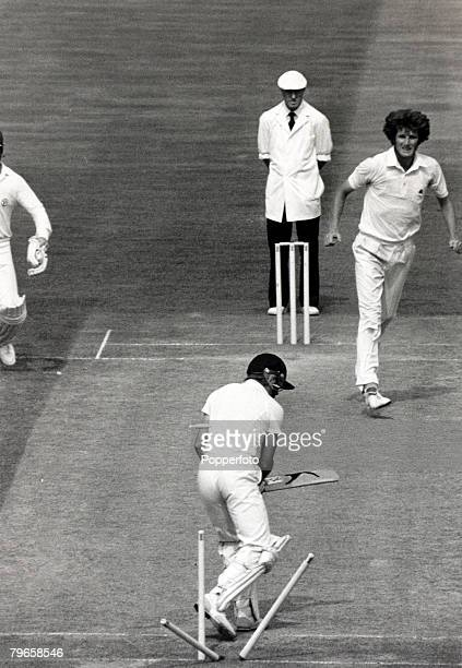Sport Cricket The Ashes Sixth Test Match at The Oval London 28th August 1981 England v Australia Match Drawn Australia's Dirk Wellham is bowled by...