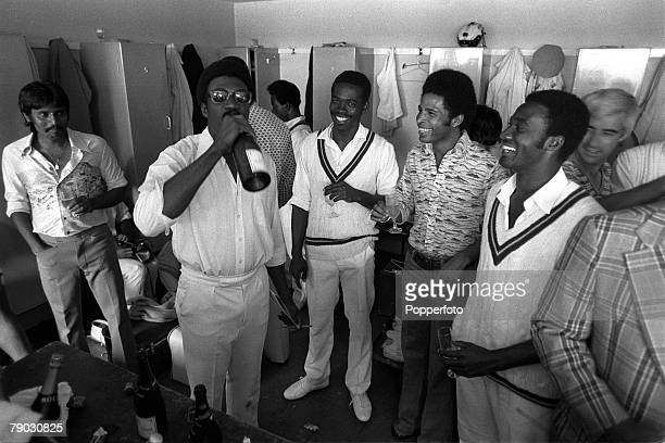 Sport Cricket Third Test Match Old Trafford Manchester 12th July 1976 England v West Indies Fifth day victory celebrations in the West Indies...