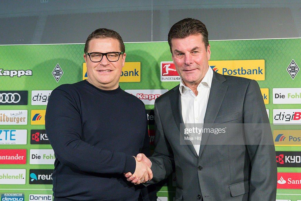Borussia Moenchengladbach Unveils New Head Coach Dieter Hecking : News Photo