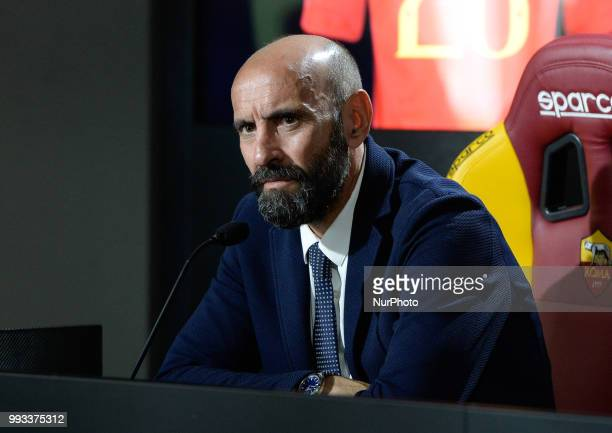 Sport Director Ramon Rodriguez Verdejo Monchi during the press conference at the AS Roma Training Centre on July 07 2018 in Rome Italy