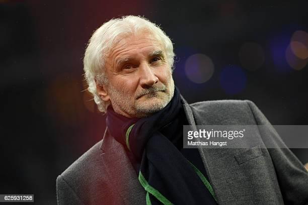 Sport director Rudi Voeller of Leverkusen seen prior to the Bundesliga match between Bayern Muenchen and Bayer 04 Leverkusen at Allianz Arena on...