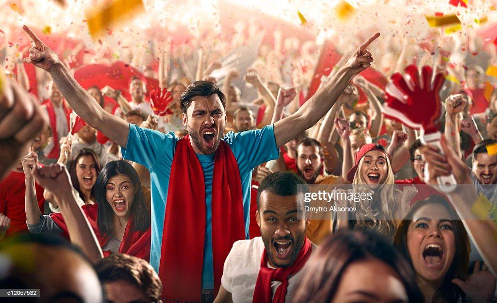 Sport fans : Stock Photo