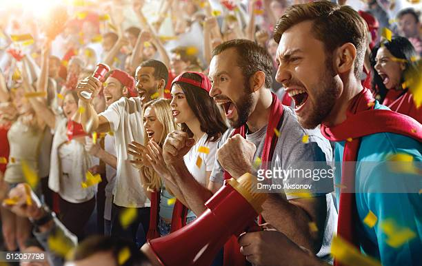 sport fans - football fan stock photos and pictures