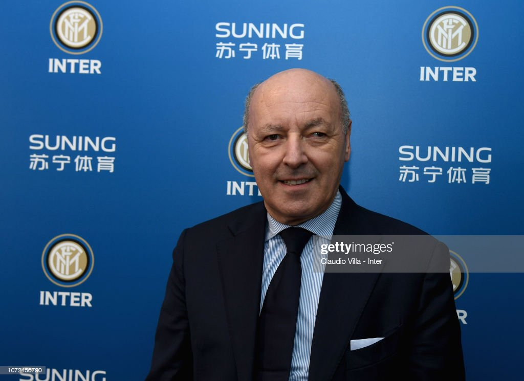 FC Internazionale Unveils New Manager Giuseppe Marotta : News Photo
