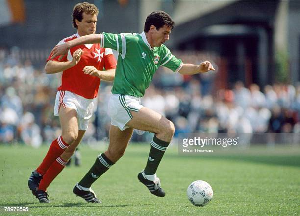 May 1989 World Cup Qualifier in Dublin Republic of Ireland 2 v Malta 0Frank Stapleton Republic of Ireland moves away with the ball Frank Stapleton...