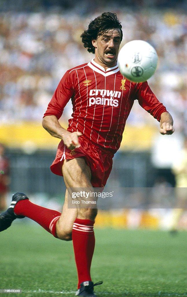 BT Sport, Footbal, pic: circa 1982, Mark Lawrenson, Liverpool central defender, Mark Lawrenson won 39 Republic of Ireland international caps between 1977-1988 : News Photo