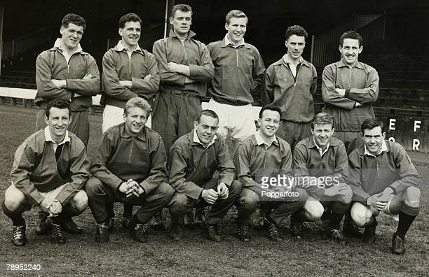 Sport Football 14th April 1961 Scottish Training Session at Elm Park London Scotland team groupback Row leftRight Bobby Shearer Eric Caldow Frank...