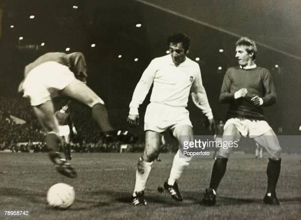 Sport Football 16th October 1968 World Club Championship 2nd Leg Old Trafford England Manchester United 1 v Estudiantes 1 Estudiantes win 21 on...