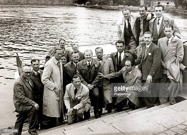 Sport Football 1958 World Cup Finals Stockholm Sweden The match officals and referees for the 1958 FIFA World Cup Finals in Sweden are pictured...