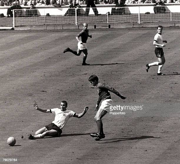 Sport Football 1966 World Cup Final Wembley London England 30th July 1966 England 4 v West Germany 2 England striker Geoff Hurst who scored a...