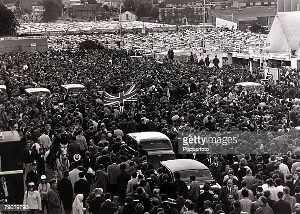 Sport Football 1966 World Cup Final Wembley London England 30th July 1966 England 4 v West Germany 2 Part of the capacity crowd that was making it's...