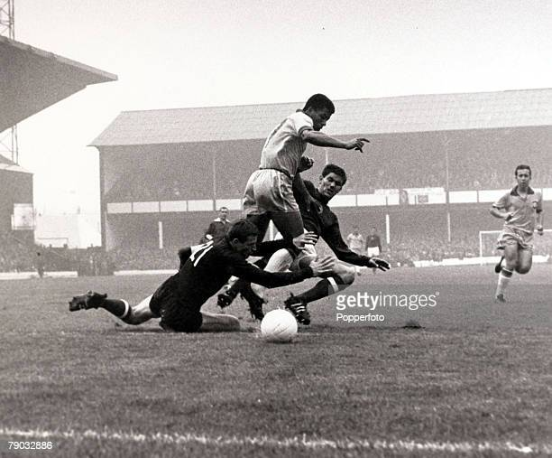 Sport Football 1966 World Cup Finals Goodison Park Liverpool England 15th July 1966 Group 3 Brazil 1 v Hungary 3 Brazil's Jairzinho is stopped by...