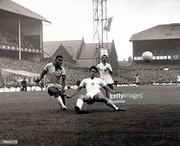 Sport Football 1966 World Cup Finals Goodison Park Liverpool England 12th July 1966 Group 3 Brazil 2 v Bulgaria 0 Brazil's Pele who scored in the...