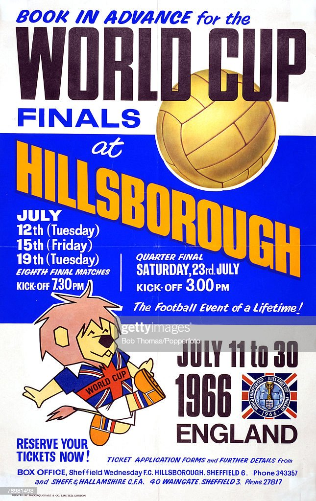 Sport. Football. 1966 World Cup Finals in England. July 1966 : ニュース写真