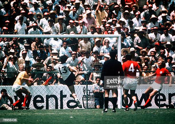 Sport Football 1970 World Cup Finals Quarter Final Leon Mexico 14th June 1970 West Germany 3 v England 2 West Germany's Gerd Muller scores the...