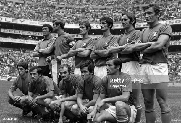 Sport Football 1970 World Cup Semi Final Mexico City Mexico 17th June 1970 Italy 4 v West Germany 3 The Italian team that beat West Germany in the...